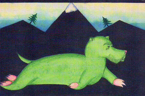 Drawing by Peter Hammerschlag for a children's book