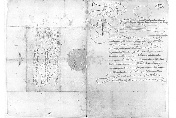 Decree of the appointment of Hugo Blotius issued by Emperor Maximilian II on 15 June 1575, page 2 and 3