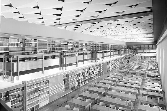 Main Reading Room, Neue Burg, 1966