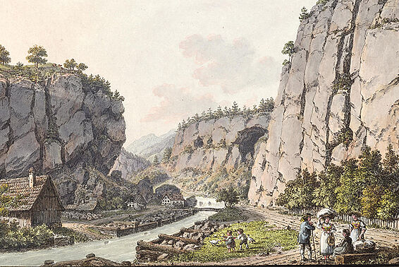 Images of historic events, landscapes and towns, natural history illustrations