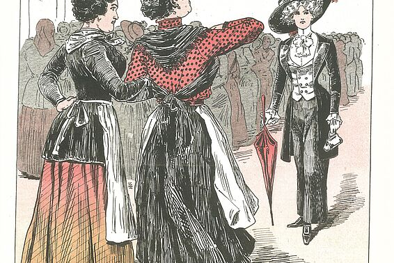 Wiener Frauendemonstration; Illustration